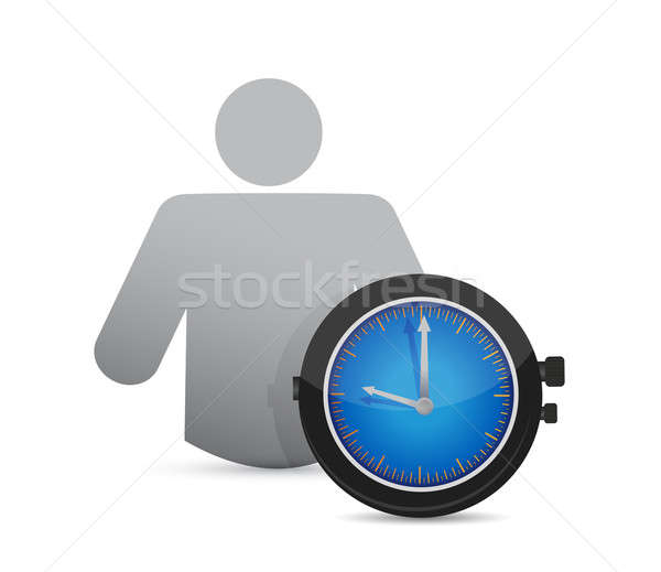 icon and watch. illustration design over a white background Stock photo © alexmillos