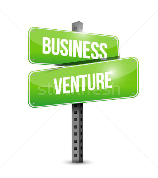 business venture street sign concept illustration Stock photo © alexmillos