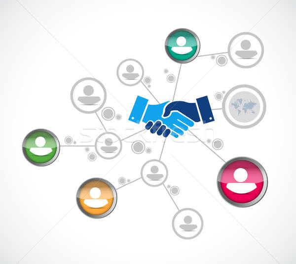 network business agreement handshake concept Stock photo © alexmillos