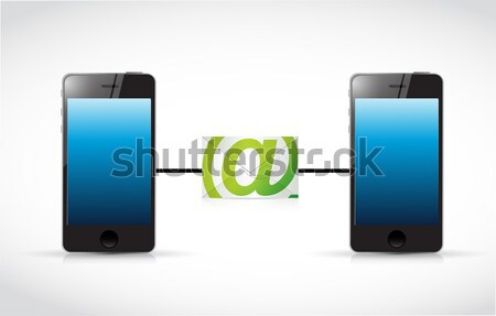 seo phone locator illustration Stock photo © alexmillos