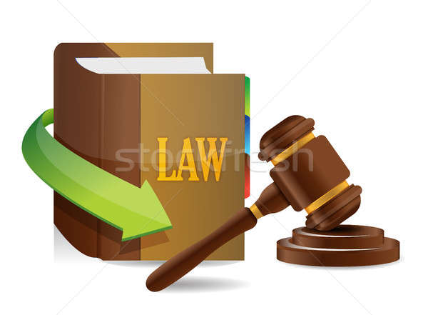 Legislazione equilibrio libro illustrazione design bianco Foto d'archivio © alexmillos
