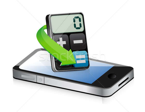 phone app and modern calculator Stock photo © alexmillos