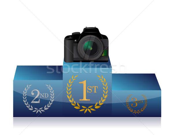 камеры подиум иллюстрация дизайна белый Сток-фото © alexmillos