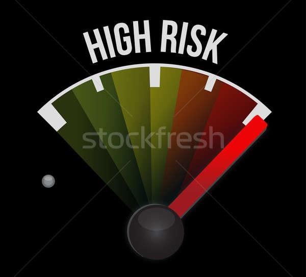 Risk concept, dash board indicator speedometer Stock photo © alexmillos