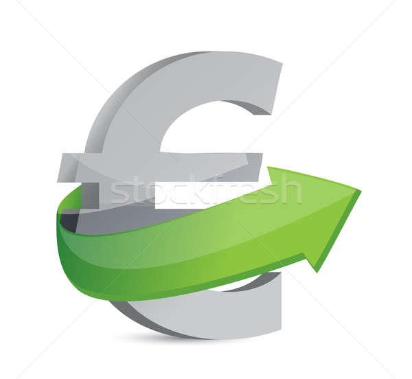 euro sign with arrow. Symbolize growth. Stock photo © alexmillos