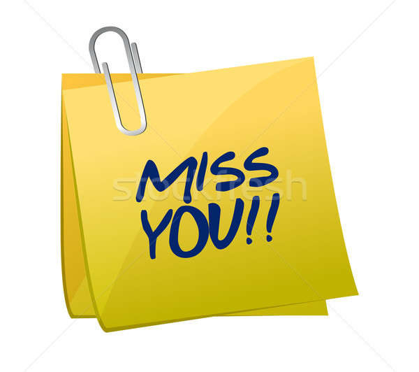 miss you post illustration design Stock photo © alexmillos
