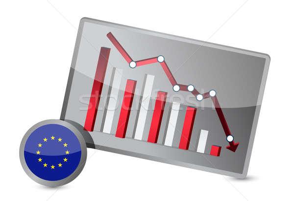 European union suffering crisis graph design Stock photo © alexmillos