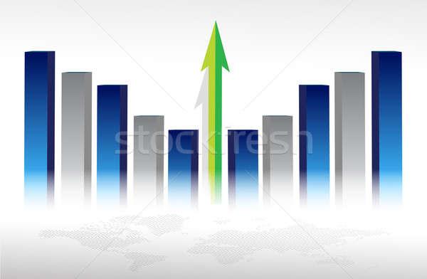 Ilustracja ekonomiczny wzrostu świat finansów rynku Zdjęcia stock © alexmillos