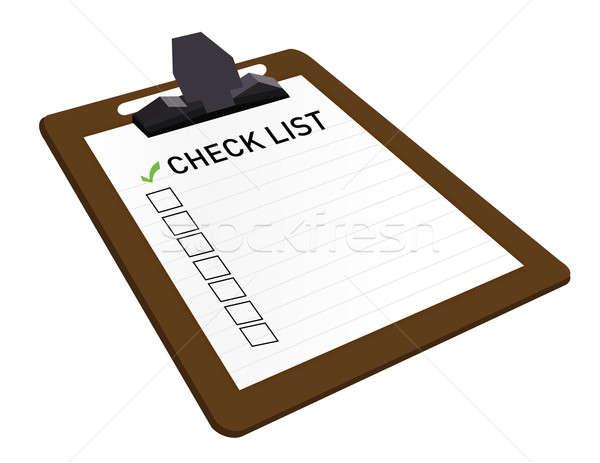 буфер обмена проверить список прилагается бизнеса бумаги Сток-фото © alexmillos