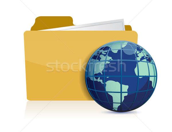 иллюстрация дизайна бизнеса бумаги печать Сток-фото © alexmillos