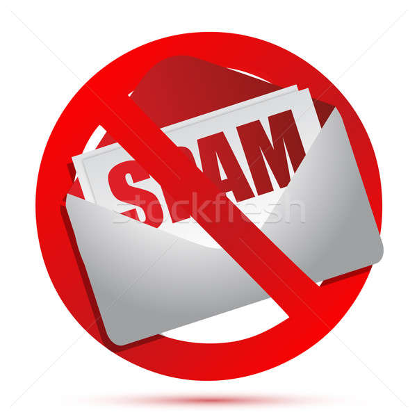 Stock photo: No more spam concept illustration design over white