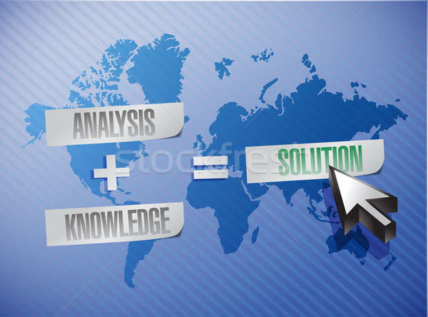 analysis plus knowledge equal solutions. illustration design ove Stock photo © alexmillos