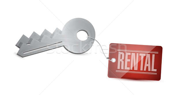 Keys for rental Concept Illustration design over white Stock photo © alexmillos