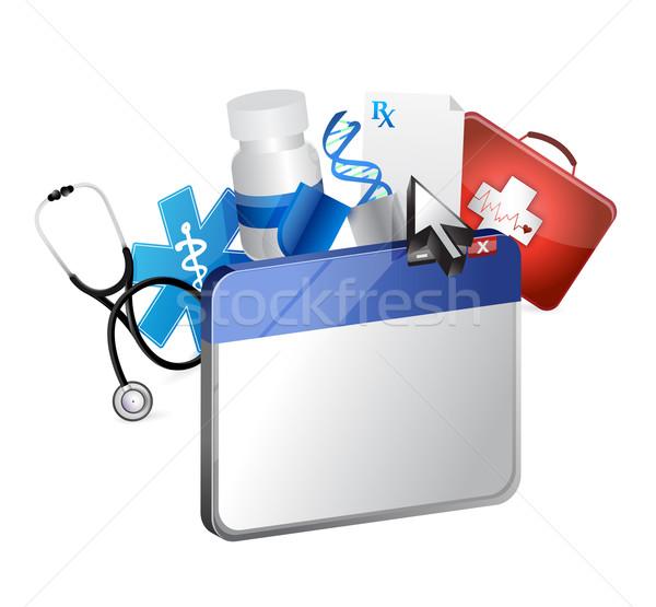 Navigateur médicaux illustration design blanche internet Photo stock © alexmillos