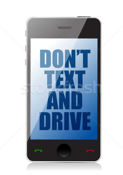 do not text and drive cell message isolated over white Stock photo © alexmillos