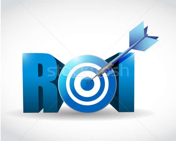 Return on investment business concept. target illustration desig Stock photo © alexmillos