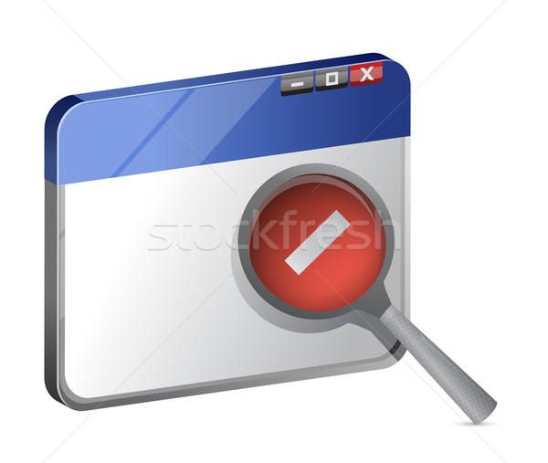Decrease web browser view  Stock photo © alexmillos