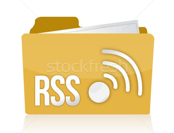 Folder rss  Stock photo © alexmillos
