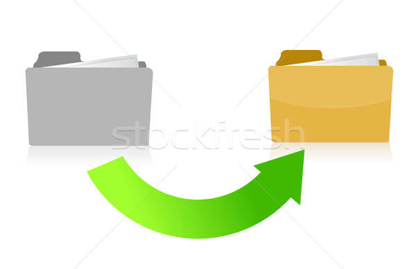 folder transferring files concept illustration design over white Stock photo © alexmillos