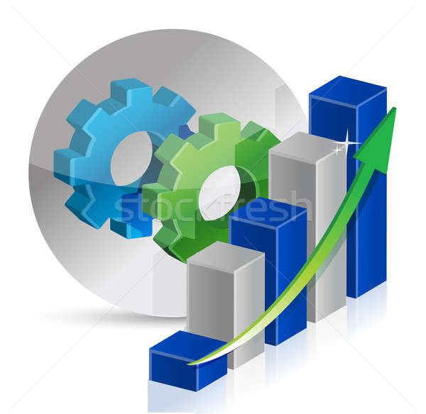 Stockfoto: Versnelling · business · werken · financieren · industriële · corporate