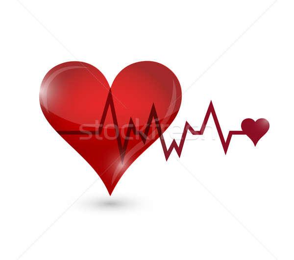 Kalp hayat çizgisi örnek dizayn tıbbi çapraz Stok fotoğraf © alexmillos