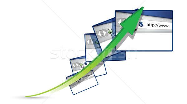 矢印 実例 デザイン ビジネス コンピュータ 世界 ストックフォト © alexmillos