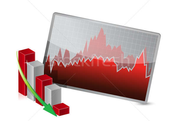 Business Graph with stocks showing losses Stock photo © alexmillos