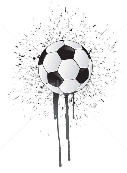 ink splatter soccer ball Stock photo © alexmillos