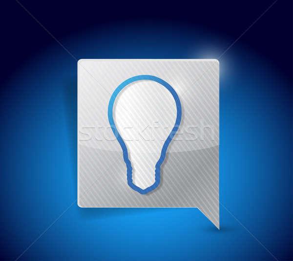 Light bulb symbol pointer illustration design Stock photo © alexmillos