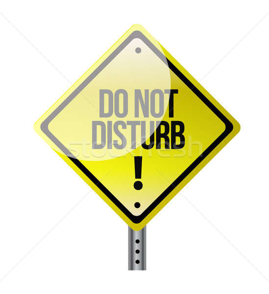 do not disturb sign illustration Stock photo © alexmillos