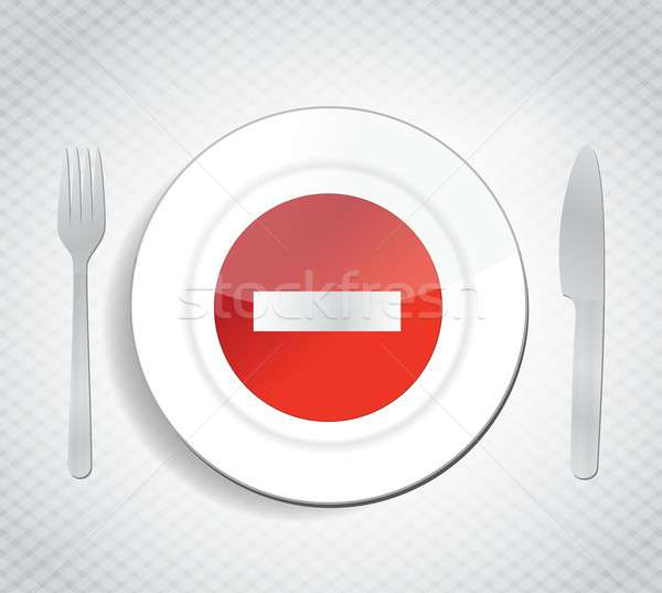 stop dont eat concept illustration design Stock photo © alexmillos