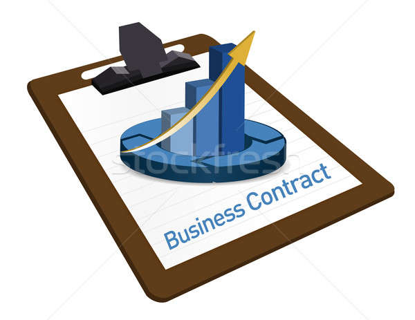 Business Contract documentation illustration Stock photo © alexmillos