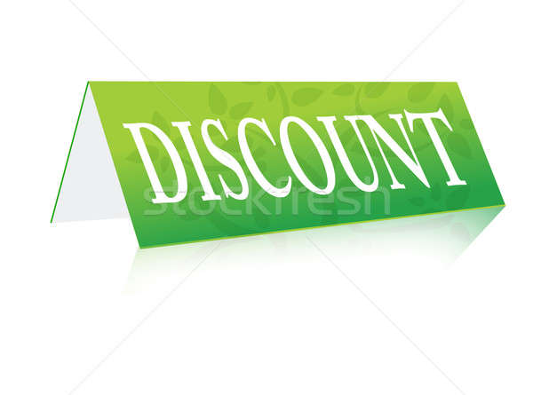discount table green sign illustration  Stock photo © alexmillos
