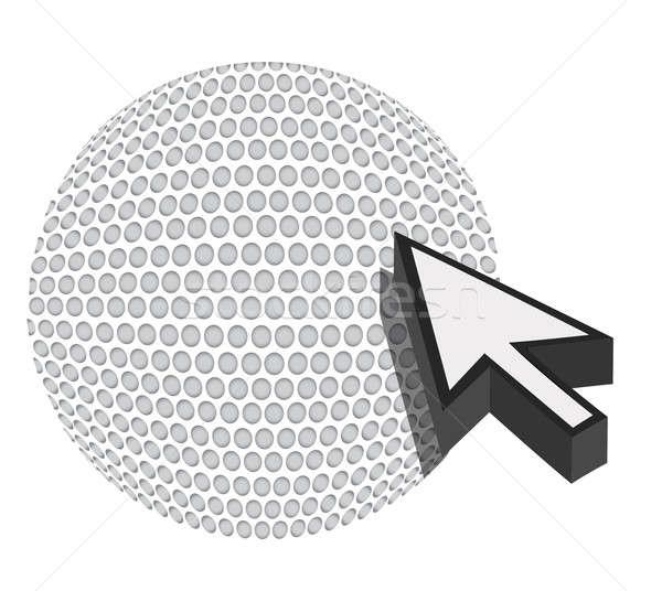 Golfball cursor seta esportes compras ilustração Foto stock © alexmillos