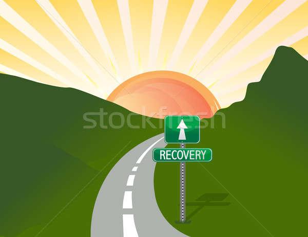 út gyógyulás fény hegy felirat jövő Stock fotó © alexmillos