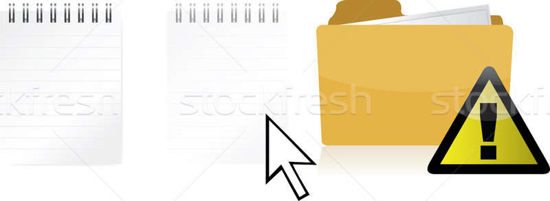 Problem transferring files illustration design isolated over a w Stock photo © alexmillos