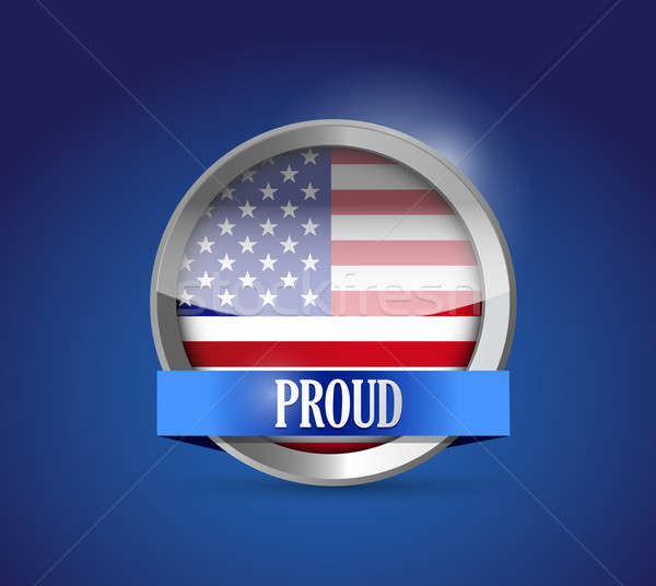ABD düğme bayrak gururlu örnek dizayn Stok fotoğraf © alexmillos