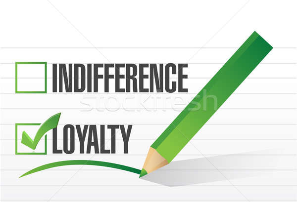 loyalty selected illustration design over a notepad paper Stock photo © alexmillos