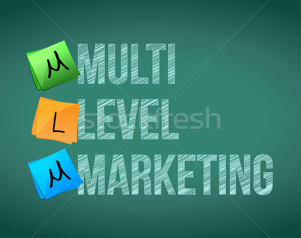 Multi Level Marketing illustration design over white Stock photo © alexmillos