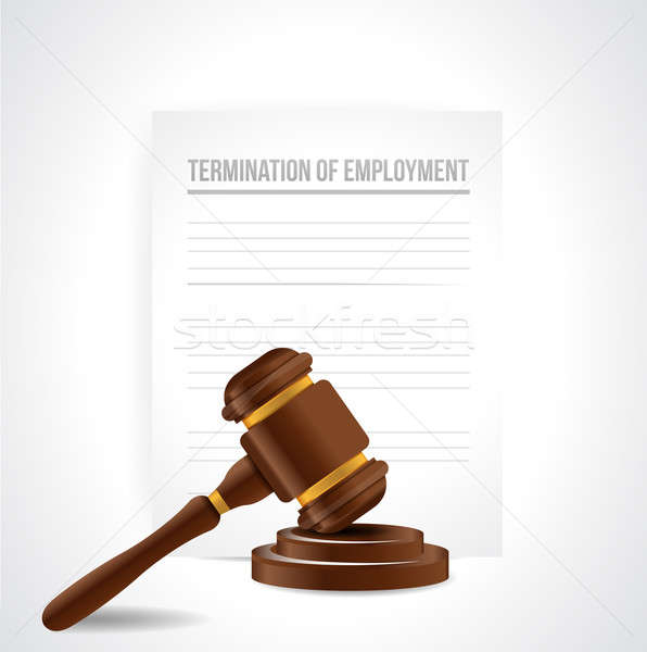 termination of employment documents. illustration design over wh Stock photo © alexmillos