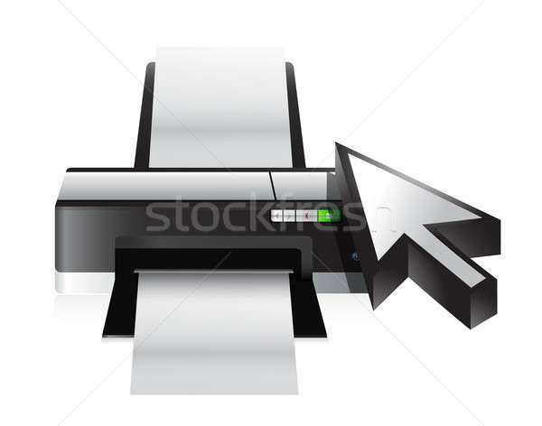 camera technology cursor illustration design over a white backgr Stock photo © alexmillos