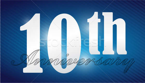 10th anniversary Silver Character Collection illustration design Stock photo © alexmillos