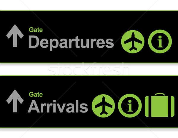 Signal Ankunft Abfahrten Flughafen Technologie Tür Stock foto © alexmillos