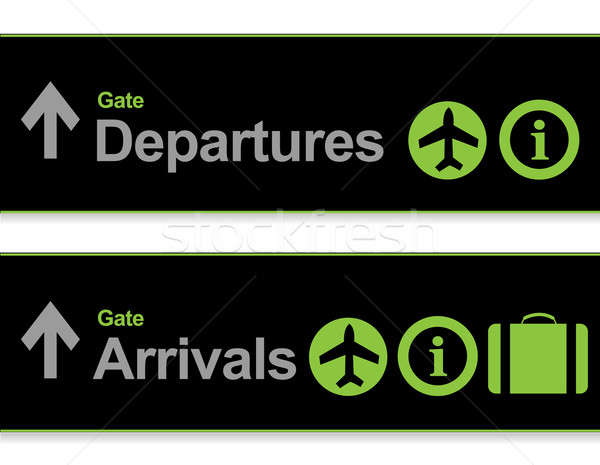 Signaal aankomst vertrektijden luchthaven technologie deur Stockfoto © alexmillos