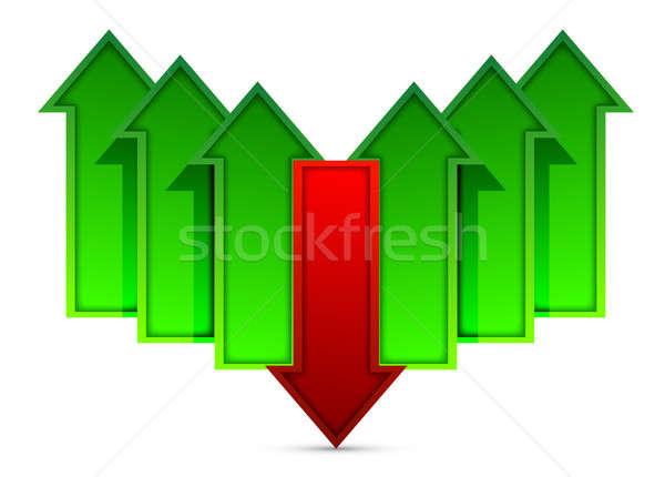 Verschillend richting pijlen ontwerp achtergrond succes Stockfoto © alexmillos