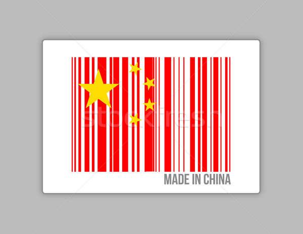 Made in china barcode  Stock photo © alexmillos