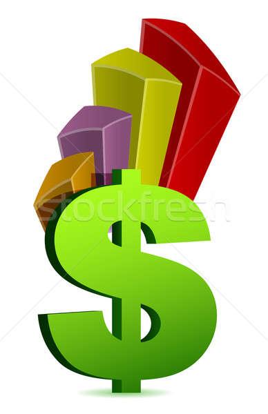 Moneda gráfico de negocio símbolo negocios resumen signo Foto stock © alexmillos