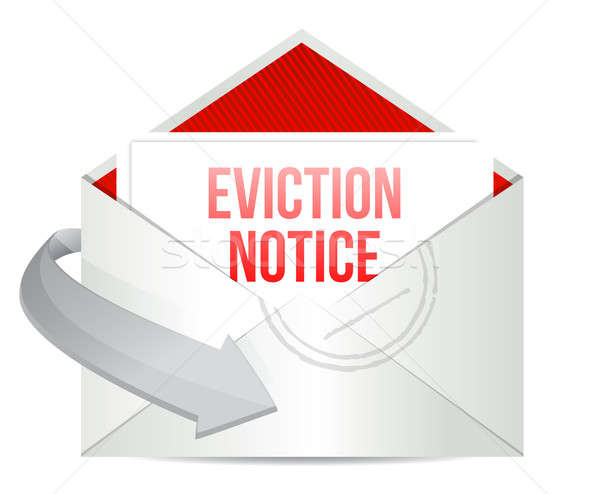 Eviction notice mail or email illustration design Stock photo © alexmillos