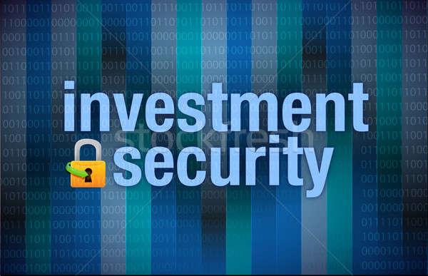 Proteção investimento segurança binário computador abstrato Foto stock © alexmillos