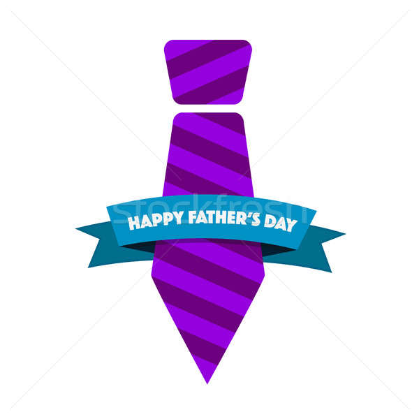 Happy Fathers day purple tie ribbon Stock photo © alexmillos